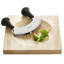 Mezzaluna Half Moon Herb Chopper and Board Set