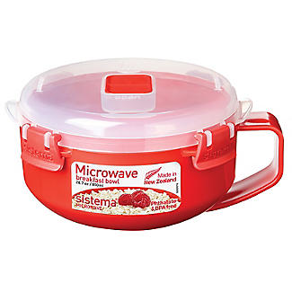 Klip It Microwave Cookware - Red Breakfast Bowl