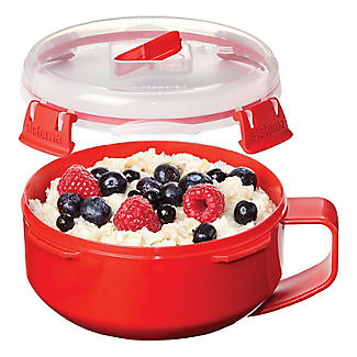 Klip It Microwave Cookware - Red Breakfast Bowl alt image 2
