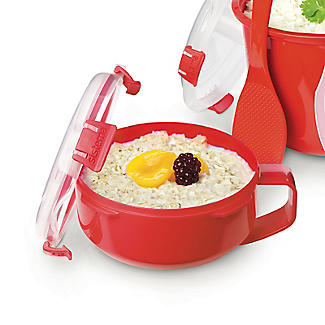 Klip It Microwave Cookware - Red Breakfast Bowl alt image 4