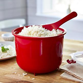 Klip It Microwave Cookware - Red Lidded Rice Steamer alt image 2
