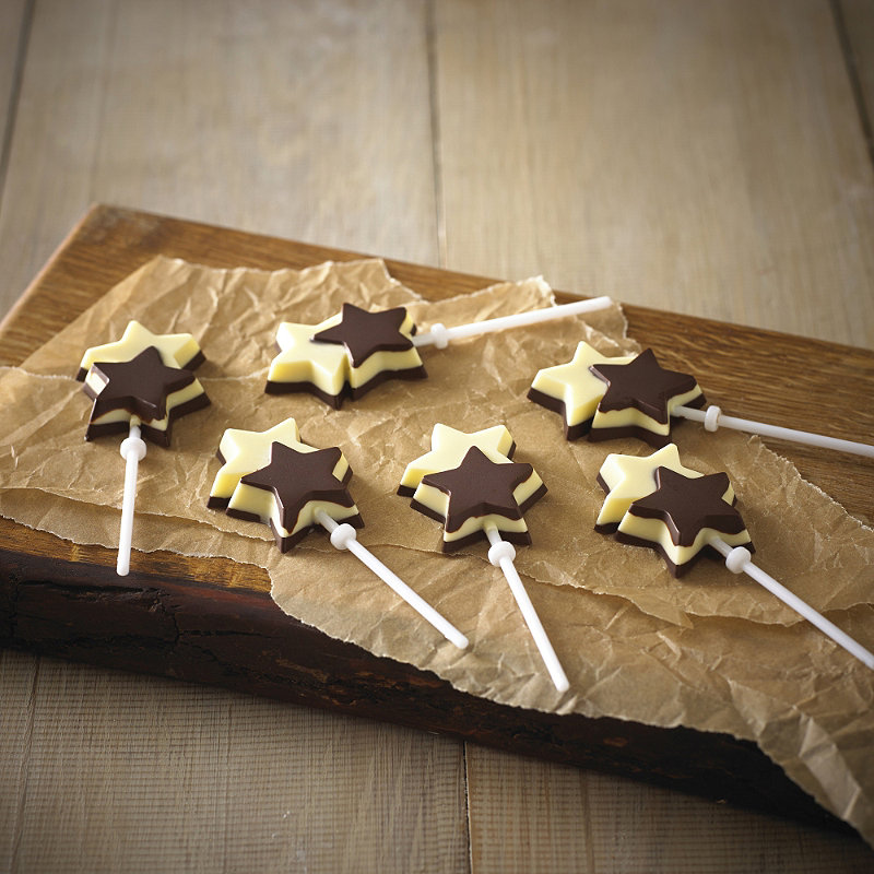 Double Star Chocolate Lolly Mould Lakeland