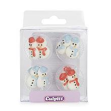Culpitt Sugar Pipings Snowmen Cake Toppers 12 Pack