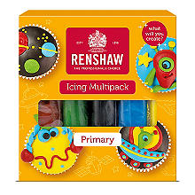 Renshaw Ready To Roll Coloured Icing - 5 x 100g Multi Colours