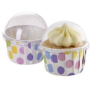 12 Spots Lidded Mini Muffin Cups