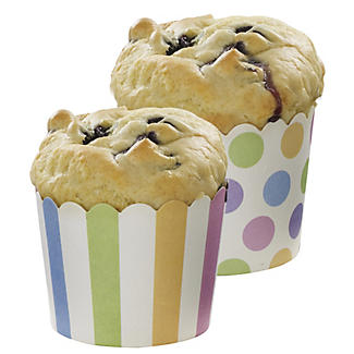 24 Spot and Stripe Cake Cups