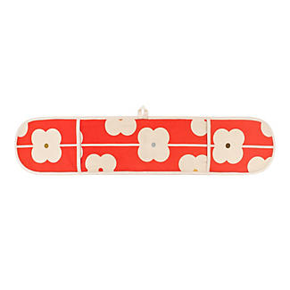 Abacus Flower Red Double Oven Glove
