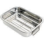 Small Stainless Steel Roasting Pan and Rack