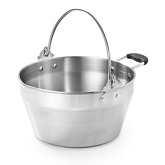 Stainless Steel Maslin Jam Pan and Handle 4.5L alt image 1