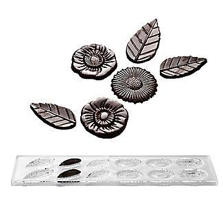 12 Pralinenformen Chocolatier 'Blüten & Blätter'