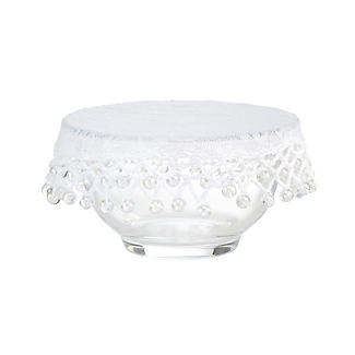 Lace Effect Beaded Food Bowl & Pot Cover - 13cm White alt image 3