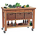 Eddingtons Three Drawer Lambourn Trolley With Solid Beech Top