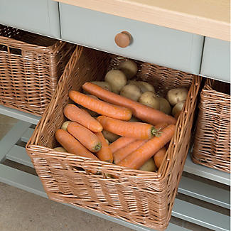 Eddingtons Three Drawer French Grey Lambourn Trolley Beech Top alt image 3