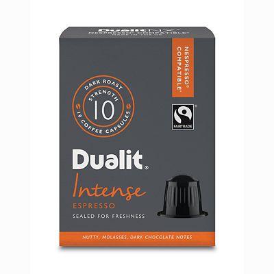 Dualit&174 NX&174 10 Coffee Pods  Strength 10  Intense Espresso Capsules