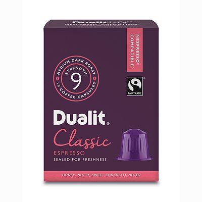 Dualit&174 NX&174 10 Coffee Pods  Strength 9  Classic Espresso Capsules