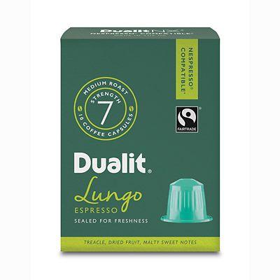 Dualit&174 NX&174 10 Coffee Pods  Strength 7  Lungo Americano Capsules