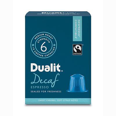 Dualit&174 NX&174 10 Coffee Pods  Strength 3  Decaf Espresso Capsules