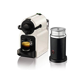 Krups Nespresso Inissia White Coffee Pod Machine & Aeroccino XN101140