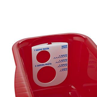Schmutzabweisendes Mikrowellengeschirr - Pastakocher, rot alt image 2