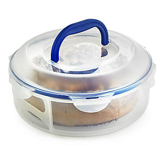 Lock & Lock Cake Carrier Caddy & Clear Lid - Round Holds 25cm Cakes alt image 1