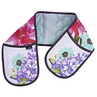Cora Floral Double Oven Mitt