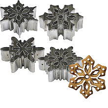 4 Snowflake Cookie Cutters