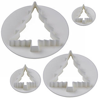 4 Christmas Tree Icing Cutters alt image 3