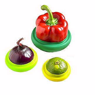 4 Silicone Food Fruit & Vegetable Huggers