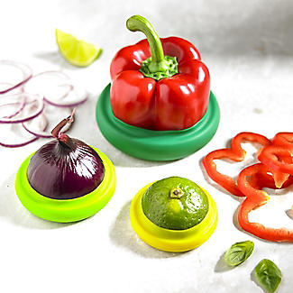 4 Silicone Food Fruit & Vegetable Huggers  alt image 2