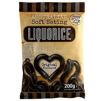Australian Soft Eating Liquorice 200g Bag - Black
