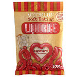 Australian Soft Eating Liquorice 200g Bag - Red Strawberry Flavour