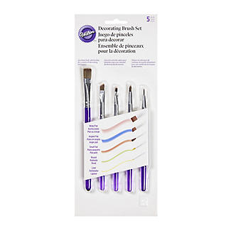 Wilton 5 Piece Cake Decorating Brush Set alt image 2