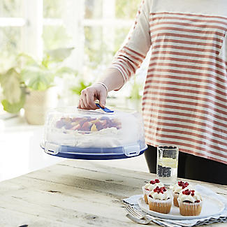 Cake Carrier Caddy & Clear Lid - Round Holds 27cm Cakes alt image 2