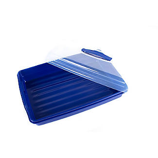 Cake Carrier Caddy & Clear Lid - Oblong Holds Cupcakes & Traybakes alt image 7