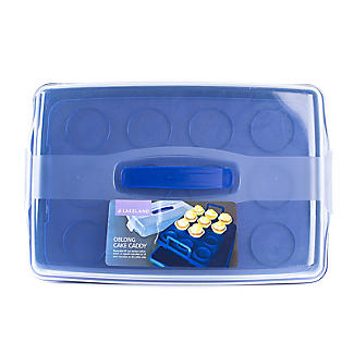 Cake Carrier Caddy & Clear Lid - Oblong Holds Cupcakes & Traybakes alt image 8