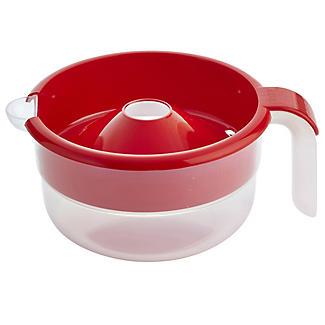 Schmutzabweisendes Mikrowellengeschirr - Milchkochtopf mit Überkochschutz, rot