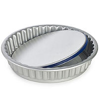 Lakeland PushPan Loose Based 23cm Fluted Flan Tin