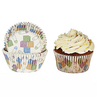 50 Lakeland Greaseproof Cupcake Cases - Baby Shower