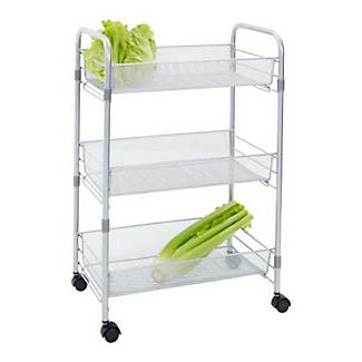 vegetable storage trolley kitchen mesh cart 3 tier kitchen storage trolley lakeland 6755