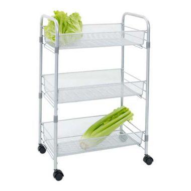 Chubby Mesh Cart 3 Tier Vegetable Kitchen Storage Trolley