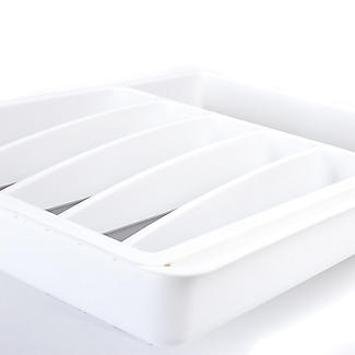 Expanding Drawer Organiser Cutlery Tray 6-8 Hole - White alt image 4