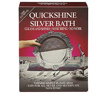4 Quickshine Silver Bath Silverware Cleaning Sachets