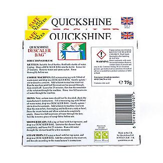 3 Quickshine Kettle Limescale Descaler Sachets  alt image 6