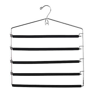 5 Bar Padded Trouser & Tie Clothes Hanger alt image 1