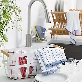 E-cloth Microfibre Classic Check Tea Towel - Blue alt image 2