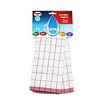 E-cloth Microfibre Classic Check Tea Towel - Red