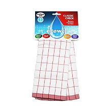 E-cloth® Mikrofaser Geschirrhandtuch, rot-weiß kariert