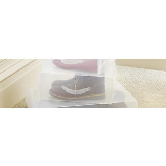 3 Large Instant View Shoe Boxes