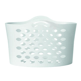 White Flexible Laundry Basket