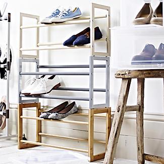 Stapelbares & Erweiterbares Schuhregal in Holzoptik - für 10 Paar  alt image 6